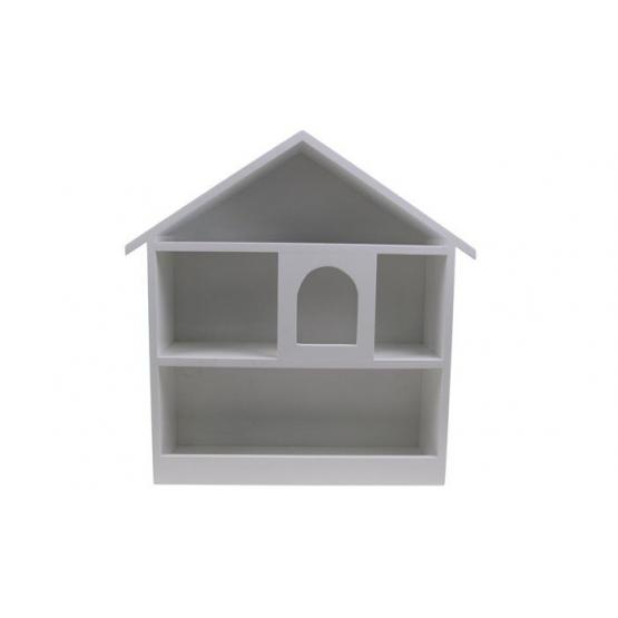 Bílá police domeček