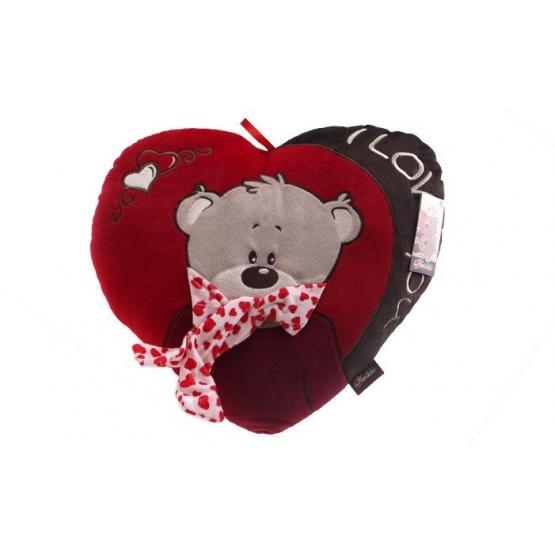 Červený polštářek srdce