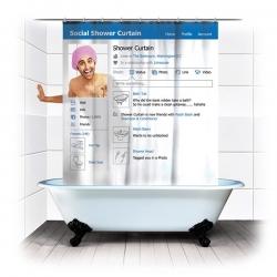 Sprchový záves Sociálna sieť
