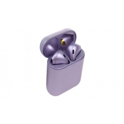 Sluchátka i12 TWS a dobíjecí box fialová