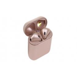 Sluchátka i12 TWS a dobíjecí box rosegold
