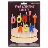 Narodeninové sviečky DON'T ASK