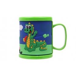 Hrnek dětský plastový (zelený s krokodýlem)