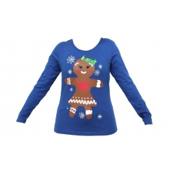 Dámské tričko vánoční modrével.XL