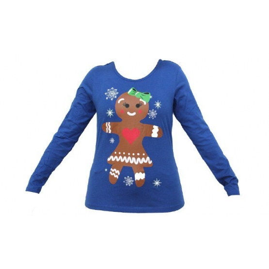 Dámské tričko vánoční modrével.XXL