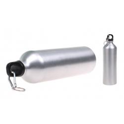 Lahev na vodu s karabinou stříbrná
