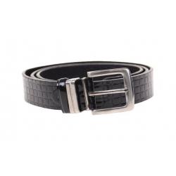 Kožený pásek černý var.27