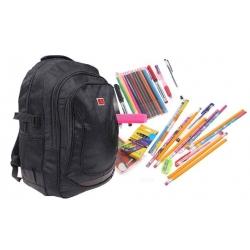 Batoh černý s náplní školních potřeb typ C