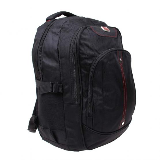 Batoh čierny s náplňou školských potrieb