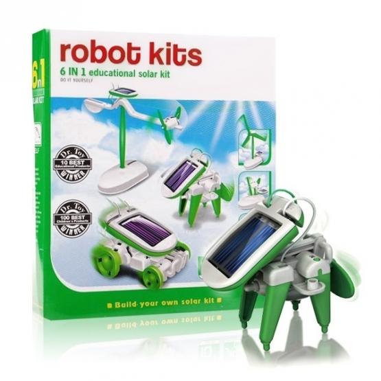 Solar Robot Kits 6v1- zelený