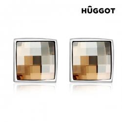 Náušnice potažené rhodiem Autumn Hûggot vyrobené s křišťály Swarovski®