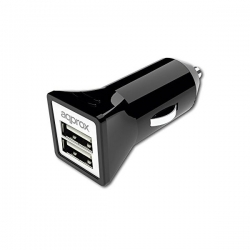 USB Nabíječka do Auta approx! AP-APPUSBCAR31B 3.1 A 2 USB porty