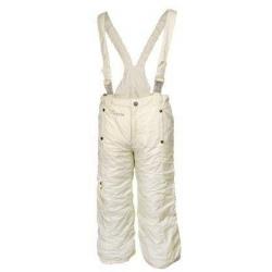 Dívčí zateplené kalhoty světle žluté vel. 146