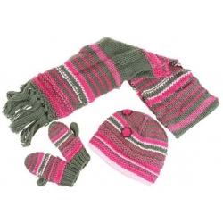 Dívčí pletený zimní set vel. XL