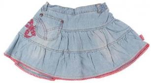 Džínová sukně s výšivkou vel.104