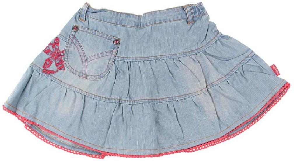 Džínsová sukňa s výšivkou vel.104