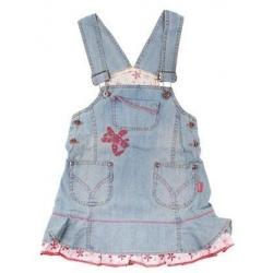 Džínové šaty s laclem vel. 80