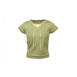 Tričko úpletové zelené s tkaničkami
