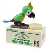 Papagáj pokladnička na drobné mince