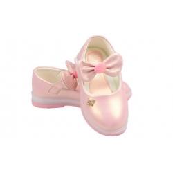 Dětské baleríny blikající růžové s mašlí vel.28