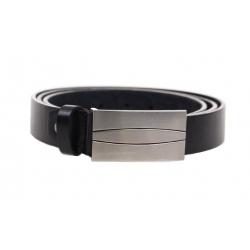 Kožený pásek černý var.21