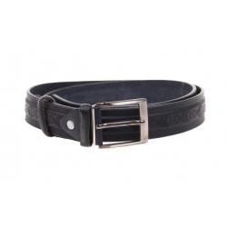 Kožený pásek černý var.22