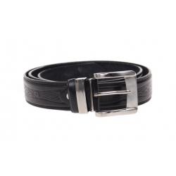 Kožený pásek černý var.28