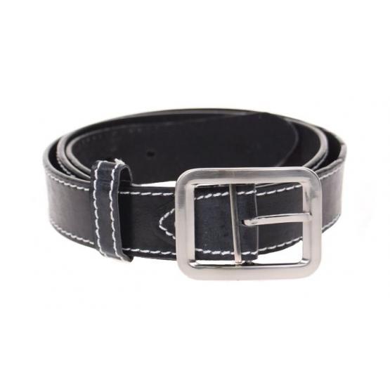 Kožený pásek černý var.31