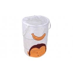 Dětský úložný box bílý opice