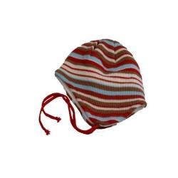Čepice dětská zimní červeno-modrá