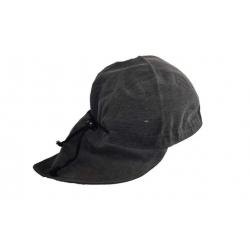 Čepice bavlněná s nátylkem šedá
