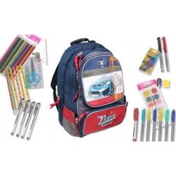 Batoh CAR s náplní školních potřeb