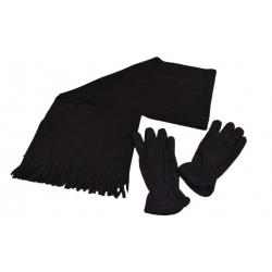 Šála s rukavicemi černá