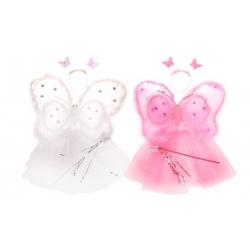 Kostým motýlek růžová