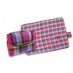 Pikniková deka fialovo růžová