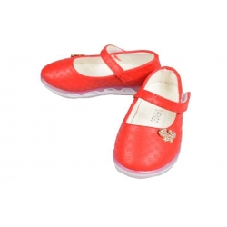 Dětské baleríny blikající červené vel.24