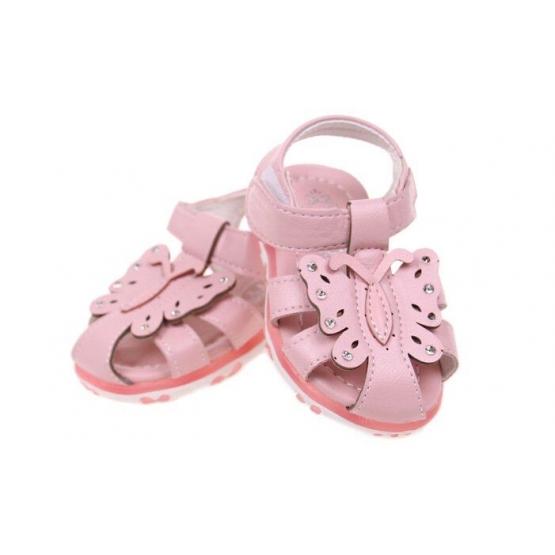 Dětské sandálky blikající růžové vel.24