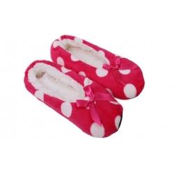 Papuče s puntíky růžové