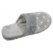 Papuče zateplené šedé s vločkami 40/41