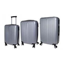 Sada 3 kufrů - skořepinové t.1901 šedá