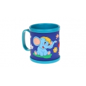 Hrnek dětský plastový (modrý slon)