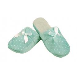 Pantofle zateplené zelené s hvězdičkami 36/37