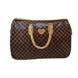 Cestovní taška hnědočerná