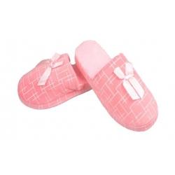 Pantofle zateplené růžové geometrický vzor vel.40/41
