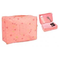Kosmetická taška Travel růžová s třešněmi