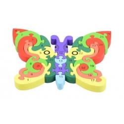 Vzdělávací dřevěné puzzle motýl