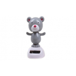 Solární tančící dekorace medvěd šedý