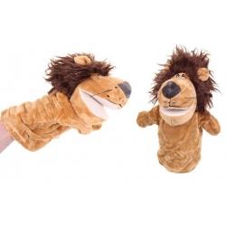 Plyšový maňásek na ruku lev