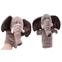 Plyšový maňásek na ruku slon