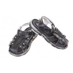 Dětské sandálky blikající černé vel.21